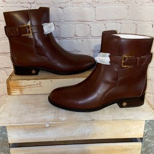 New! Tory Burch | Calfskin Leather Brooke Ankle Booties size 8